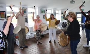 Healing light festival drumming workshop