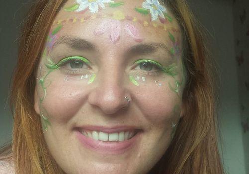 Healing light festival face painter Fi Hartley